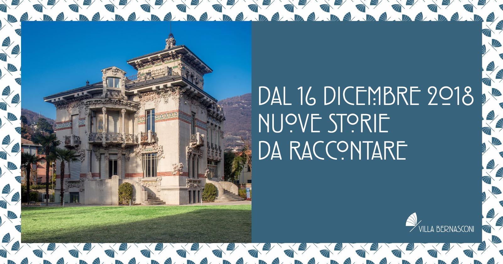 DAL 16 DICEMBRE RIAPRE IL MUSEO DI VILLA BERNASCONI