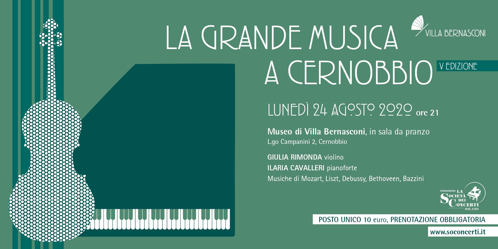 LA GRANDE MUSICA A CERNOBBIO – AGOSTO